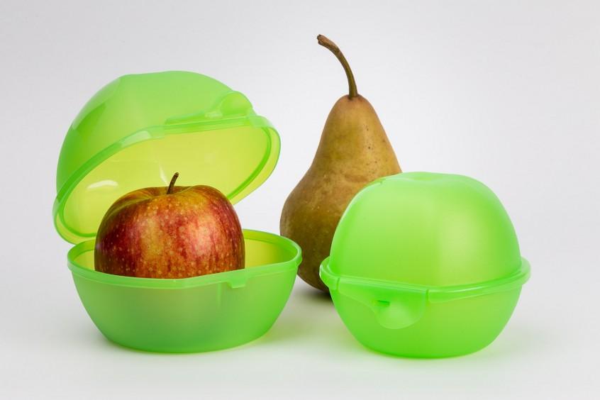 Produktset (Obstdose) mit einfacher Deko (Früchte), mit Basicretusche, direkt für Onlineshop verwendbar.
