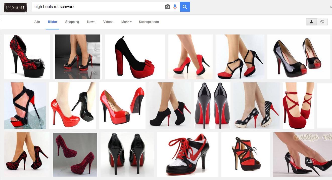 So präsentiert sich die Google Bildersuche